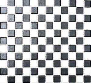 Mosaico-piastrella-ceramica-scacchiera-BIANCO-E-NERO-CUCINA-BAGNO-18-0305-r10-f-10-Tappetini
