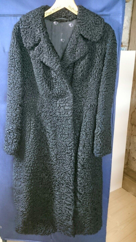 Hochwertiger Mantel Pelzmantel 36   38 schwarz persianer