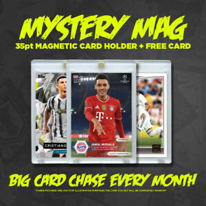 """Mystery Mag 35pt Magnetic Trading Card Holder 3""""x4"""" WITH FREE CARD"""