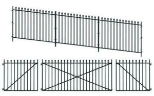 PECO-LK-742-1-43-O-SCALE-GWR-Spear-Fencing-Ramp-Panels-Gates-and-Posts