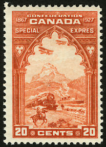 Canada-E3-20c-Orange-1927-VF-MLH-Post-Office-Fresh