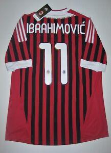 3a454e092 New 2011-2012 Adidas AC Milan Zlatan Ibrahimovic Kit Calcio Maglia ...