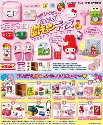 Re-ment Miniature Sanrio Melody Mune Kyun Days 700YEN rement Full set of 8