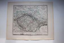 Carte de 1879, atlas Stieler,Gotha J. Perthes Deutschland Böhem, Mähren N°27