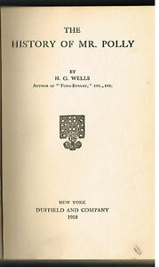 The-History-of-Mr-Polly-by-H-G-Wells-1910-1st-Ed-Vintage-Book