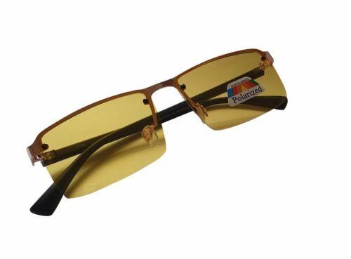 Night Driving Polarised Glasses Super-Lite Anti Glare HD Half Frame Unisex 1036