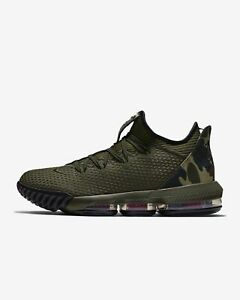 best loved 5d17e ebc8d Details about NIKE LEBRON 16 LOW CI2668-300 CARGO KHAKI BLACK NEUTRAL OLIVE  ARMY CAMO