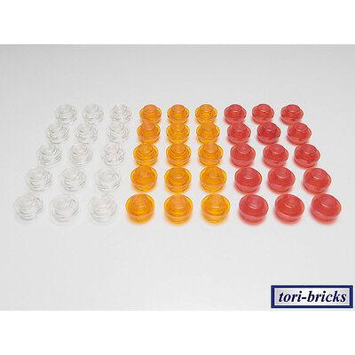 100 Lego Platten 1x1 rund transparent gelb NEU 4073