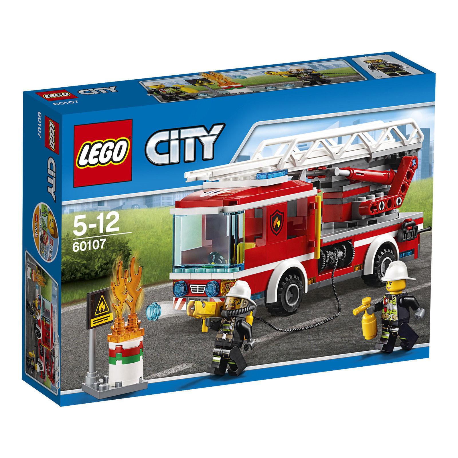 LEGO City 60107 Feuerwehrfahrzeug mit fahrbarer Leiter - NEU   OVP