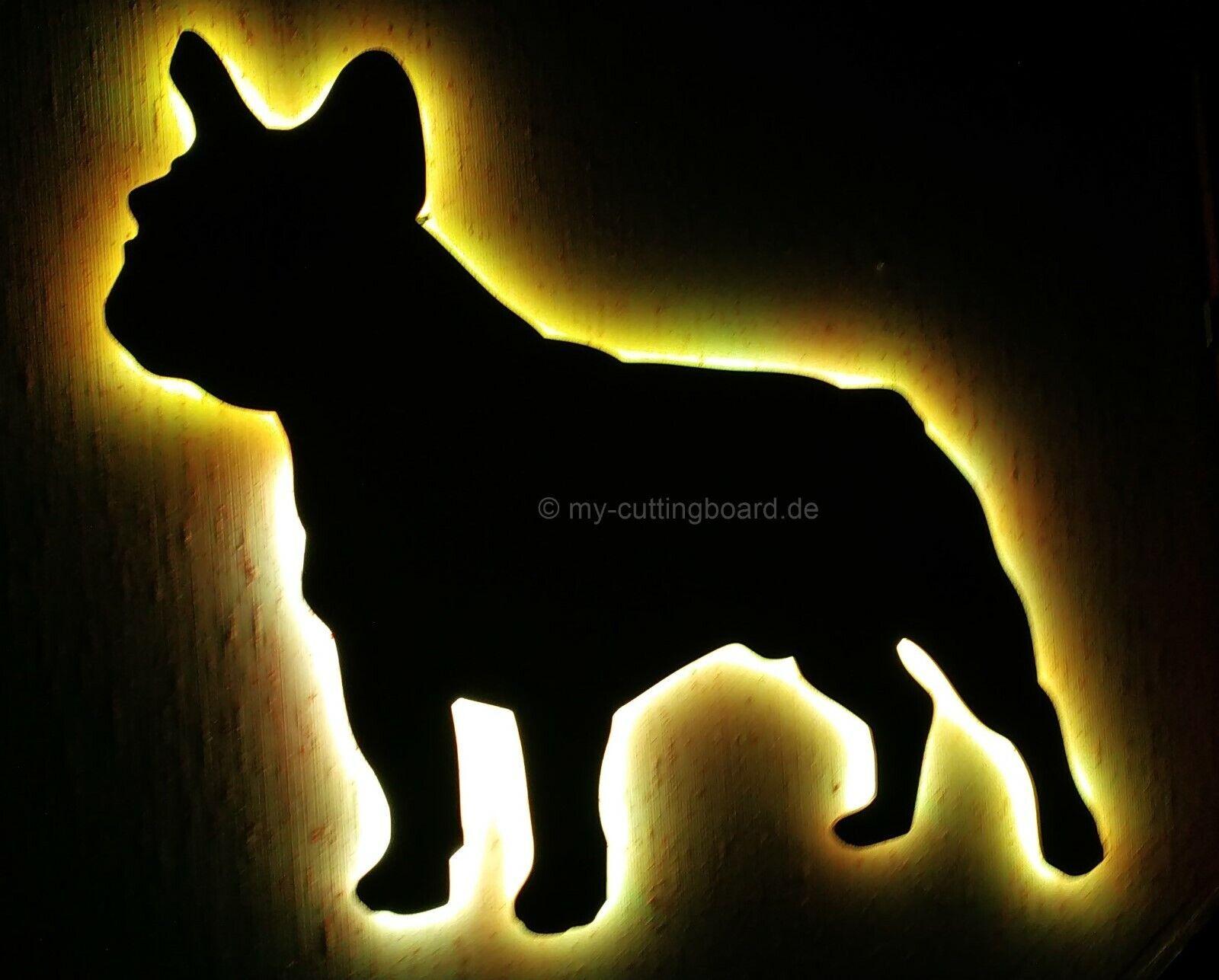 French Bulldog Wandlampe LED Bulldogge Dogge Stimmungslicht NEU MADE IN GERMANY
