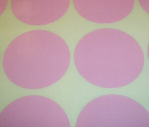 60-Light-Pink-45mm-1-3-4-Inch-Colour-Code-Dots-Round-Stickers-Sticky-ID-Labels