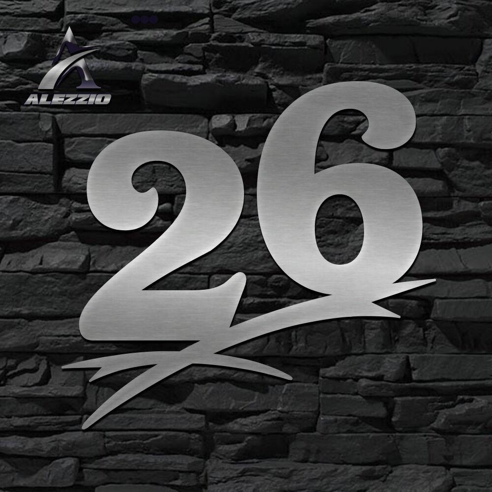 HAUSNUMMER EDELSTAHL 26 in 16cm,20cm,30cm,40cm,50cm,ORIGINAL ALEZZIO DESIGN  NEU