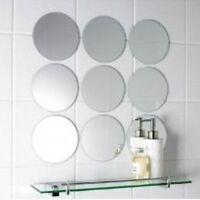 Pack of 10 x 4cm Diameter Small Circle Mosaic Mirror Tiles, 3mm Acrylic Mirrors
