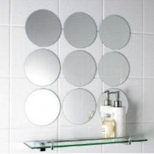 Details Zu Packung Mit 10 X 6cm Durchmesser Rund Silber Mosaik Spiegel Fliesen 3mm