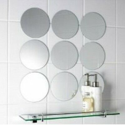 Round Circle Mosaic Mirror Tiles (3mm Acrylic Mirrors, Several Sizes Available)