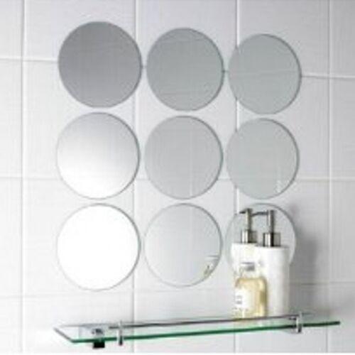 Pack of 10 x 10cm Diameter Circle Mosaic Silver Mirror Tiles, 3mm Acrylic Mirror