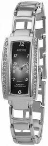 NEU-Akzent-Damen-Armbanduhr-silberf-Black-Uhr-Damen-Uhren-SS8221000001