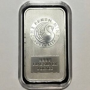 Image Is Loading Perth Mint Swan 1 Oz Australian 9999 Silver