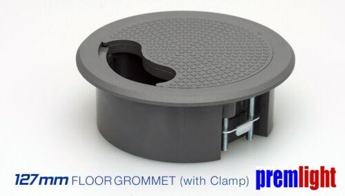 127mm GREY FLOOR AND DESK GROMMET WITH CLAMP TASS ACCESS GROMMET FGG127C