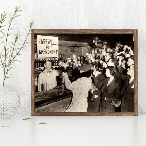 End of Prohibition Farewell 18th Amendment Gift 11x14 Unframed Art Print