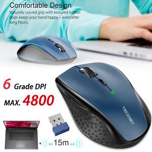 73f2e5a84fd TeckNet 4800 DPI Wireless Gaming Mouse 2.4G Cordless Optical Mice ...