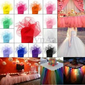 TULLE-Roll-Spool-Tutu-Wedding-Craft-Party-Bow-Decoration-6-034-x100yd-6-034-x300-039-Gift