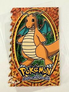 Dragonite-149-Topps-Embossed-Rare-die-cut-Vtg-Old-card-Pokemon-1999