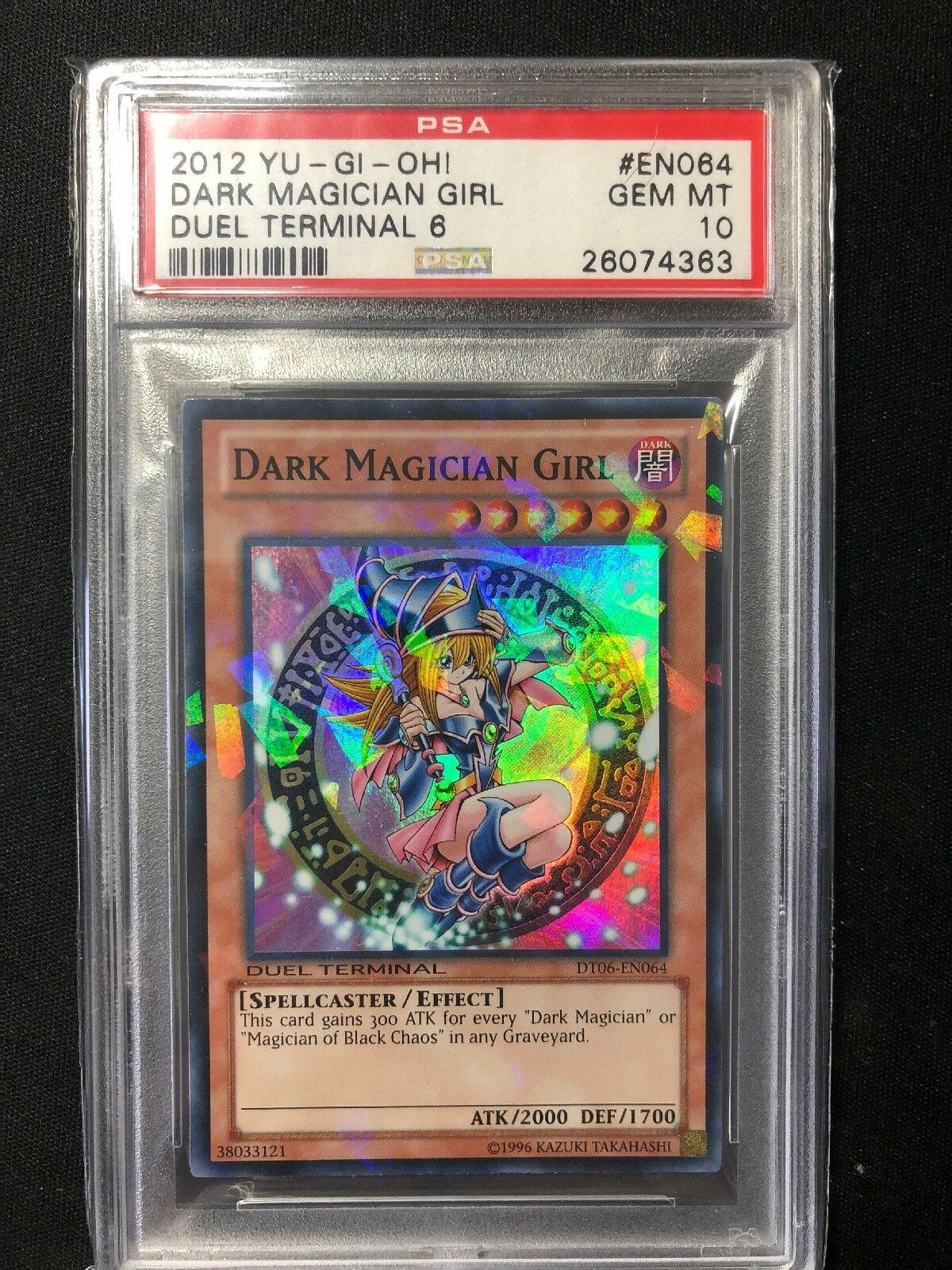 Yugioh Dark Magician Girl Duel Terminal DT06 Super Rare PSA Graded 10 Gem Mint