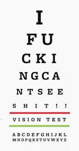 Framed-Print-Funny-Eye-Chart-Picture-Snellen-Optician-Glasses-Vision-Test