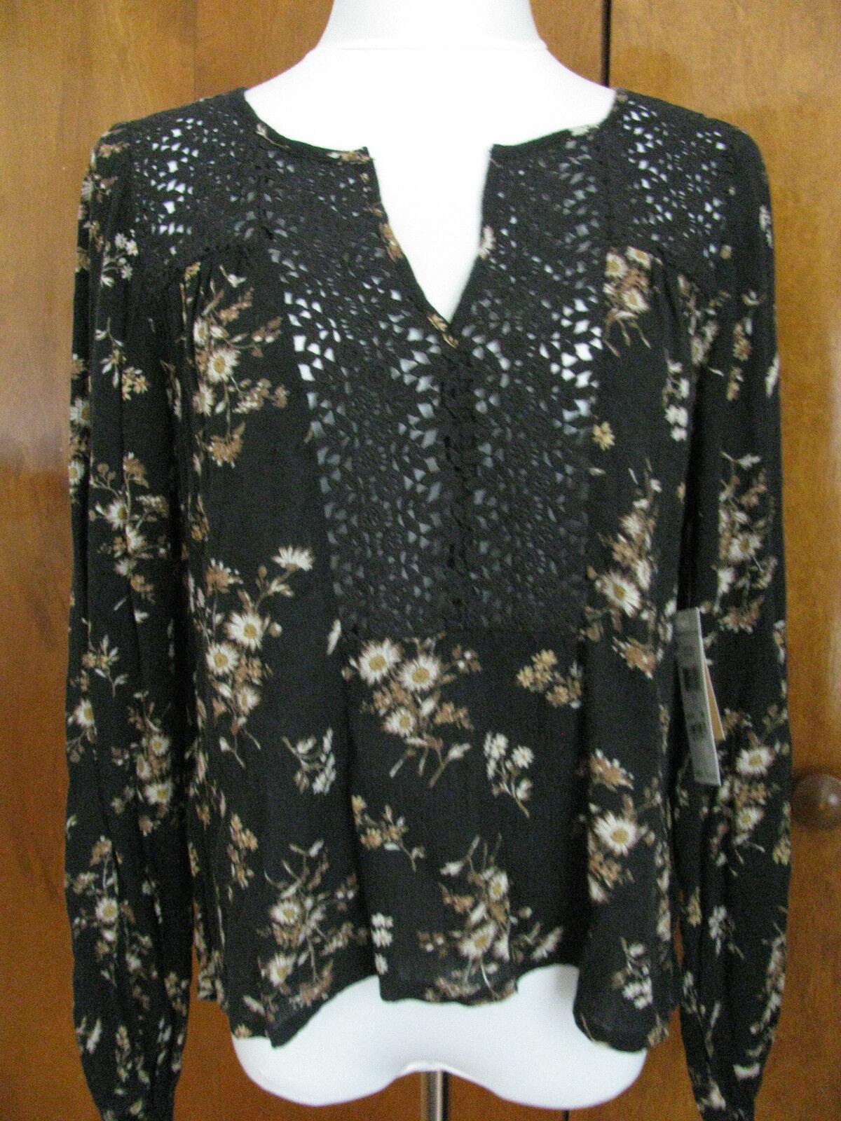 Ralph Lauren Denim & Supply damen fabric crafted schwarz top S M L NWT