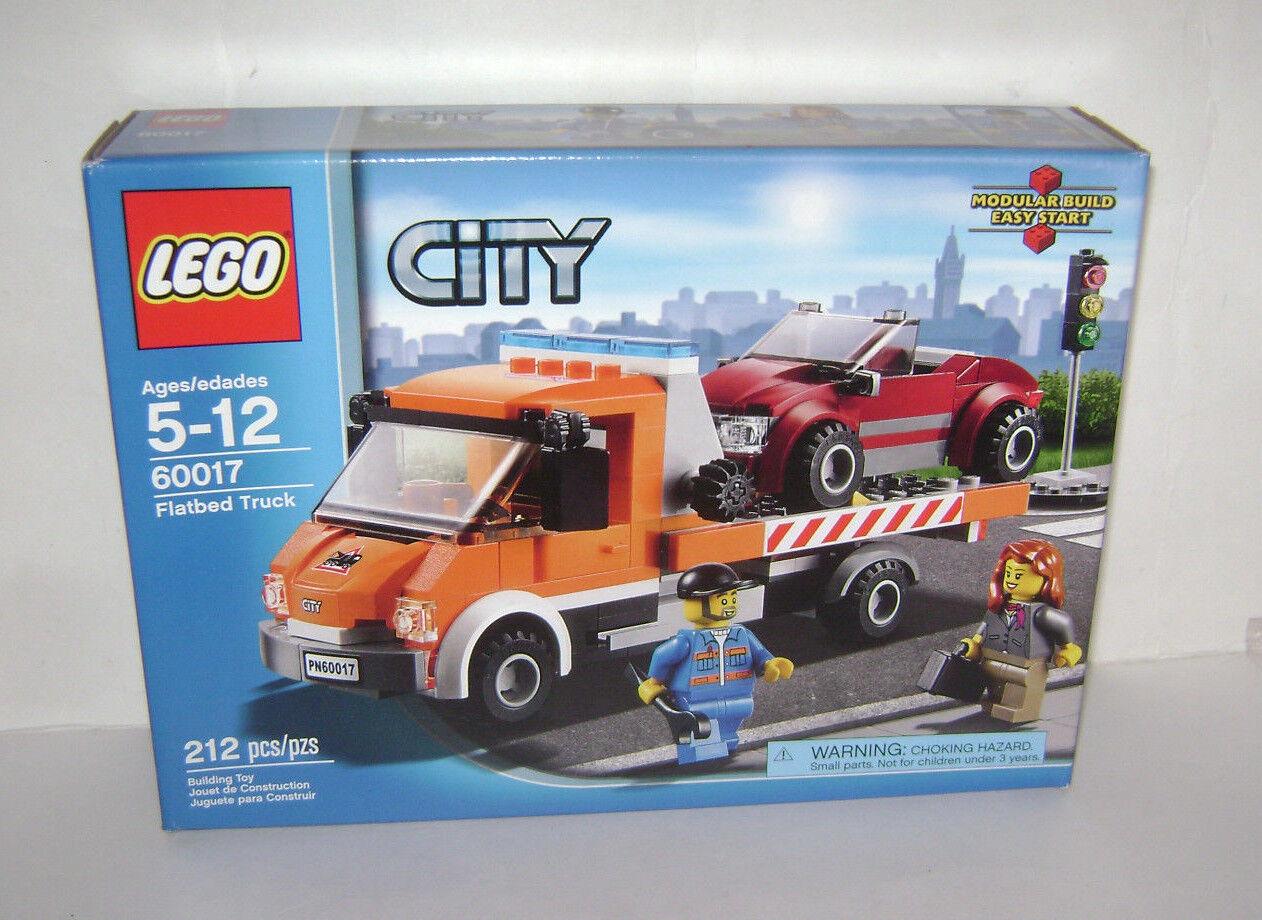 Nuevo 60017 juguete de construcción Lego City plano camión caja sellada de naranja un jubilado Raro
