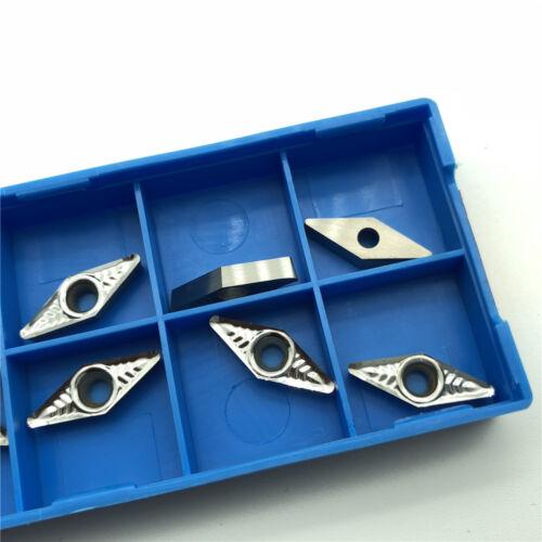 Aluminum VCGT110308-AK H01 VCGT222  CNC insert VCMT110308 Lathe blade 10pcs For