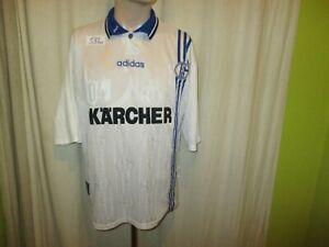 FC-Schalke-04-Original-Adidas-UEFA-CUP-Sieger-Trikot-1997-034-KARCHER-034-Gr-XL