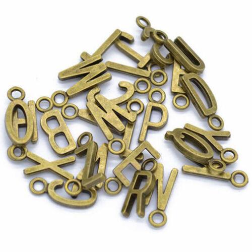 fashion DIY 26Pcs Alloy A-Z Letters Making Jewelry Charms Pendants