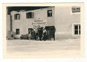 7-708-FOTO-GASTHAUS-JOSEF-SCHLAMINGER-WERBUNG-HUND-FAHRRAD-HOFBRAU