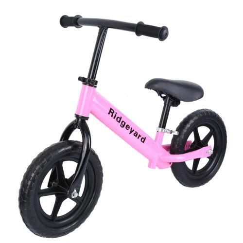 Ridgeyard Unisex Kids 12 Balance Bike Classic No-Pedal Learn To Ride Adjust Seat