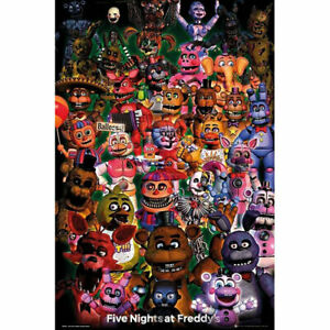 Five-Nights-at-Freddy-039-s-Ultimate-Group-POSTER-61x91cm-NEW