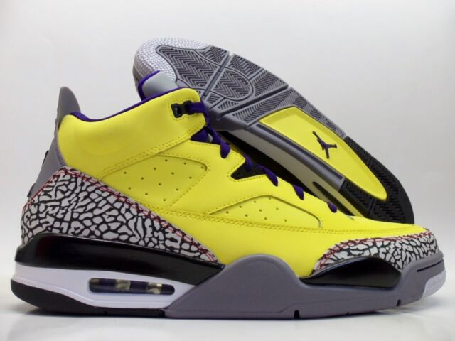 timeless design cdd0d 313d5 NIKE JORDAN SON OF LOW TOUR YELLOW CEMENT GREY SIZE MEN S 12.5  580603-
