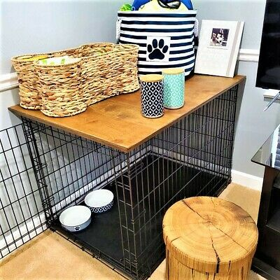 Dog Kennel Wood Table Top, Dog Crate Wooden Furniture