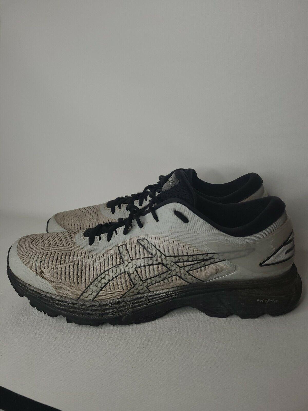 Asics Gel-Kayano 25 Running Shoe Mens Size 14 1011A019 Gray White Black