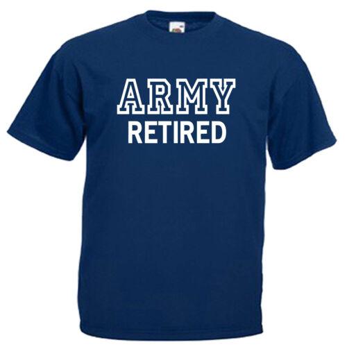 Armée à la retraite de la retraite Adultes Homme T shirt 12 Couleurs Taille S 3XL