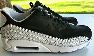 Details about NIKE AIR MAX 90 WOVEN BLACKBLACK WHITE SIZE 10.5 833129 003