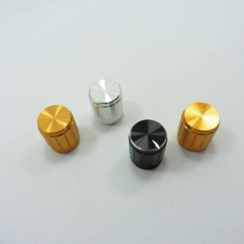 15mm x 17mm Aluminium Potentiometer Knob Volume Sound Control Plastic