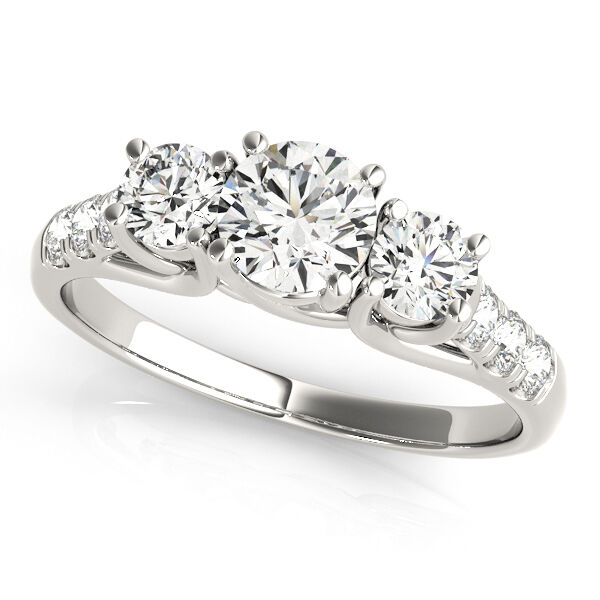 2.10 Ct Moissanite Diamond Solitaire Engagement Rings White gold Finish Size 8 7