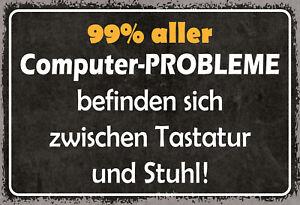 99-aller-Computerprobleme-Blechschild-Schild-gewoelbt-Tin-Sign-20-x-30-cm