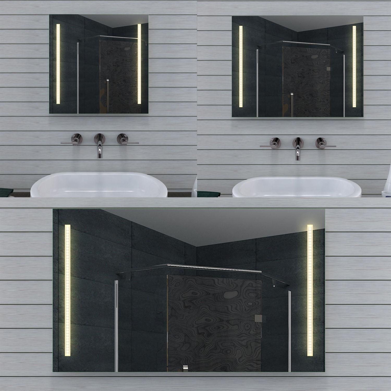 NEU Design Badezimmerspiegel mit Led Beleuchtung in Warm Kaltweiß MT60-DP Serie