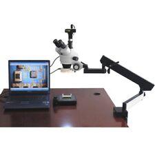 Amscope 35x 90x Arm Stand Zoom Trinocular Stereo Microscope Light 13mp Cam