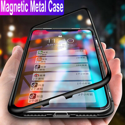 migliore a buon mercato a889a eeeab Magnetic Adsorption Tempered Glass Case Cover Huawei P30 P20 Lite Mate 20  Pro   eBay