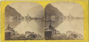 Il Bristenstock E Il Lac Uri Suisse William Inghilterra Foto Stereo Albumina