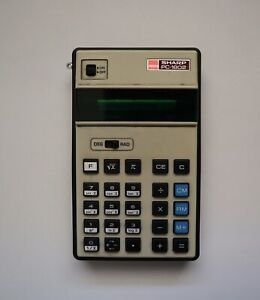 SHARP PC-1802 Scientific Calculator Working Battery Operated Japan Vintage